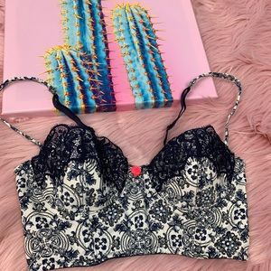 Anthropologie lace push up bralette 32B